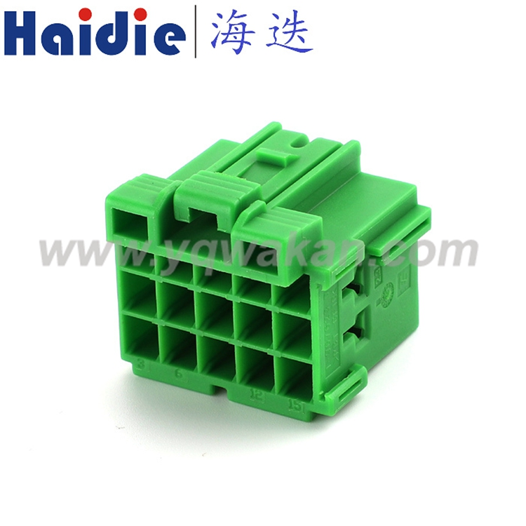 15 Pin Female Green Electrical Automotive Wiring Harness